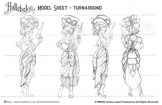 HB_Model_sheets_turnaround_GunGirl