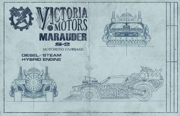 Steampunk_Dieselpunk_car_blueprint